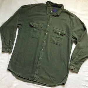 Pendleton Long Sleeve Button Down Shirt in Green